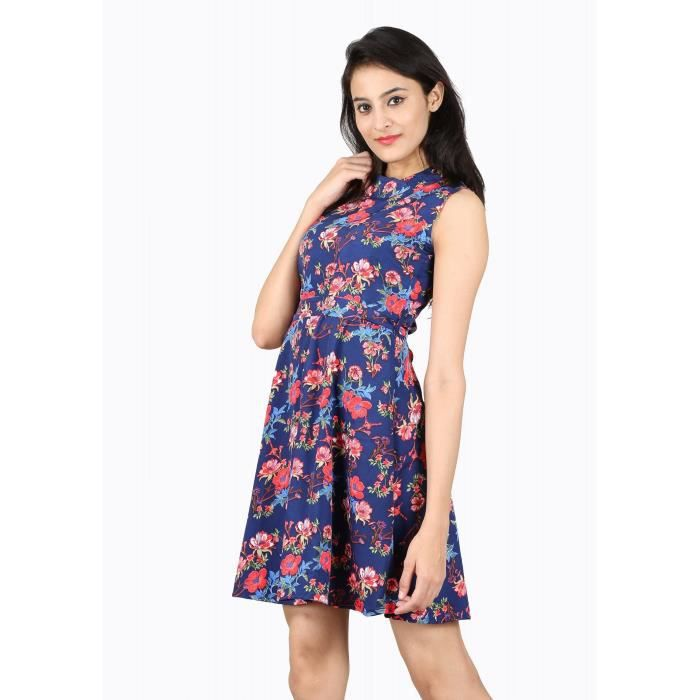 Womens Multicolor Floral Printed Crepe Dress 1SVUE4 Taille-38