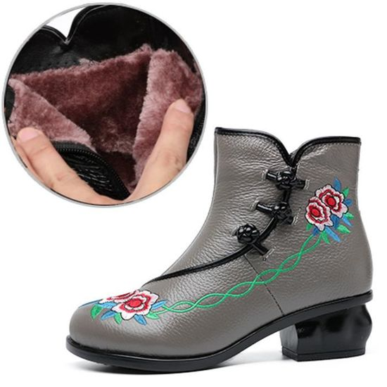 Bottes Talons Chaussures Moyen Bottines Femmes Stylewll10971 à custom Automne Bohème Folk Hauts IW2DEH9