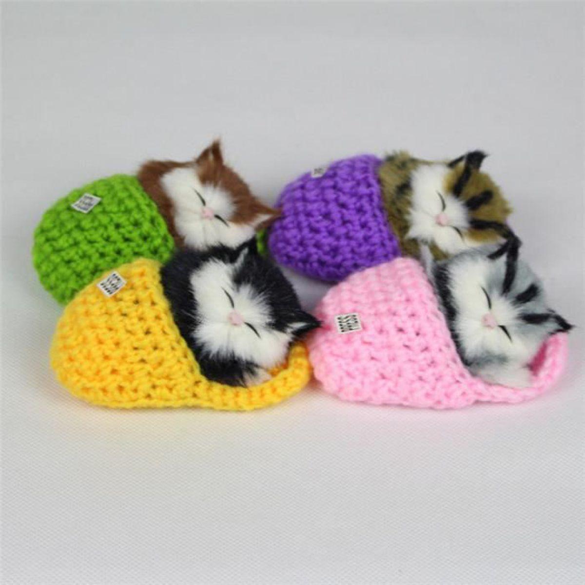 chaton mignon pantoufles 10x6cm avec jouet en peluche pour chat vocal achat vente peluche. Black Bedroom Furniture Sets. Home Design Ideas