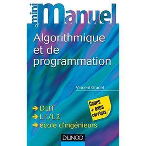 LIVRE PROGRAMMATION Mini manuel d'algorithmique et de programmation