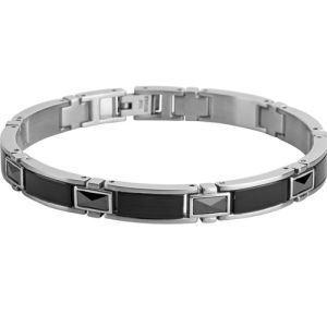 Bracelet homme ceramique noire