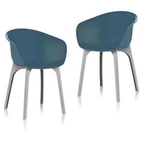 FAUTEUIL JARDIN  IDEA lot de 2 Chaises de jardin Diva Teal