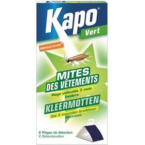PRODUIT INSECTICIDE Kapo pièges à mites pour vetements étui de 2 - ...
