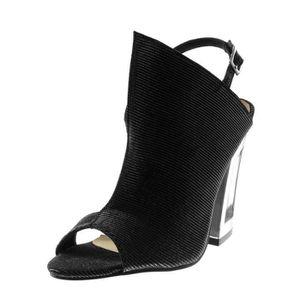 5ed9ec81d61d1 Chaussure femmes ouverte a talon haut argent - Achat   Vente pas cher