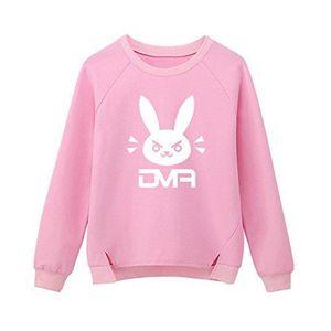 SWEATSHIRT sweatshirts bleus roses pour femmes imprimer lapin