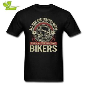 T-SHIRT All Men Are Created Equal Then A Few Become Bikers