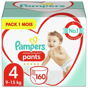COUCHE PAMPERS Premium Protection Pants T4 X160 Pack 1 Mo