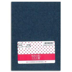 TISSU MLLE TOGA Tissu jeans thermocollant - A5 - marine