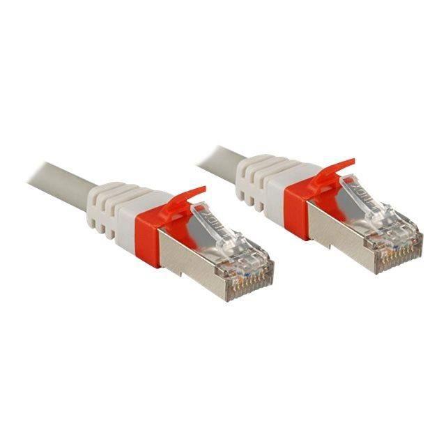 LINDY Câble réseau patch cat.6A S/FTP PIMF Premium - Cuivre - 10 Gbit - 500Mhz - LSOH - 0,3m - Gris