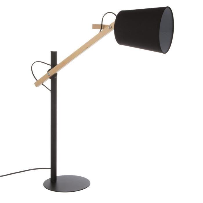 Table Lampe Métal Bois 65 Cm De En Et Bras Avec ArticuléHauteur dWexBQroCE