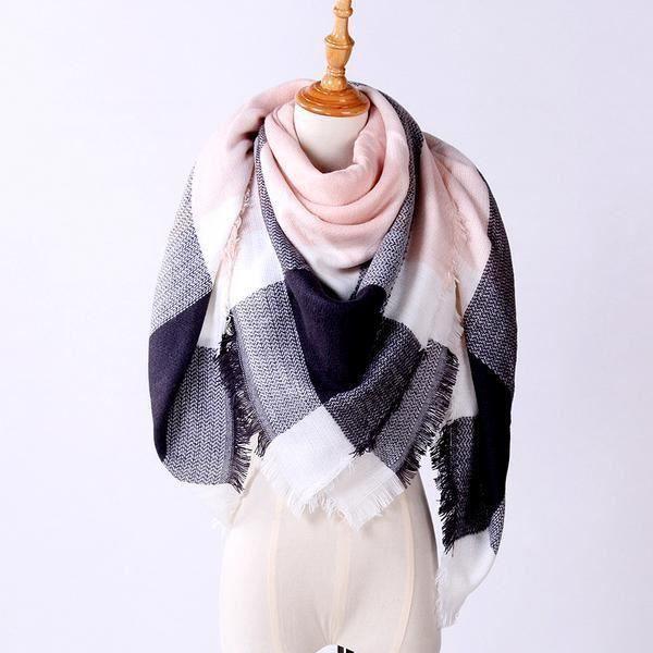 a89906e16e9 Echarpe Femmes plaid frangée Femme laine Châle Cachemire - Achat ...