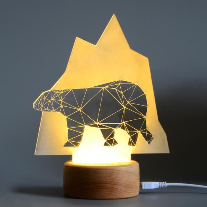 Décorations Lumière La Nuit 3d Pour De Lampe Led Illusion Bureau PXuOkZiT