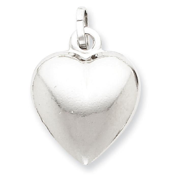 En argent Sterling pendentif cœur gonflé