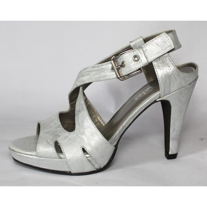 CHAUSSURES LUXE SANDALES100% CUIR T 36 MISSANGA