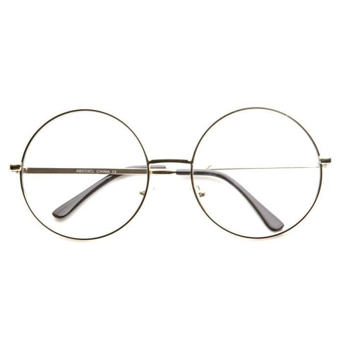 cbe17784d70cd7 Lunettes Oversize Ronde Dorée Doré - Achat   Vente lunettes de vue ...