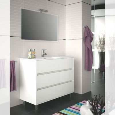 Meuble salle de bain 100 cm couleur blanc achat vente salle de bain complete meuble salle de - Meuble de salle de bain en 100 cm ...