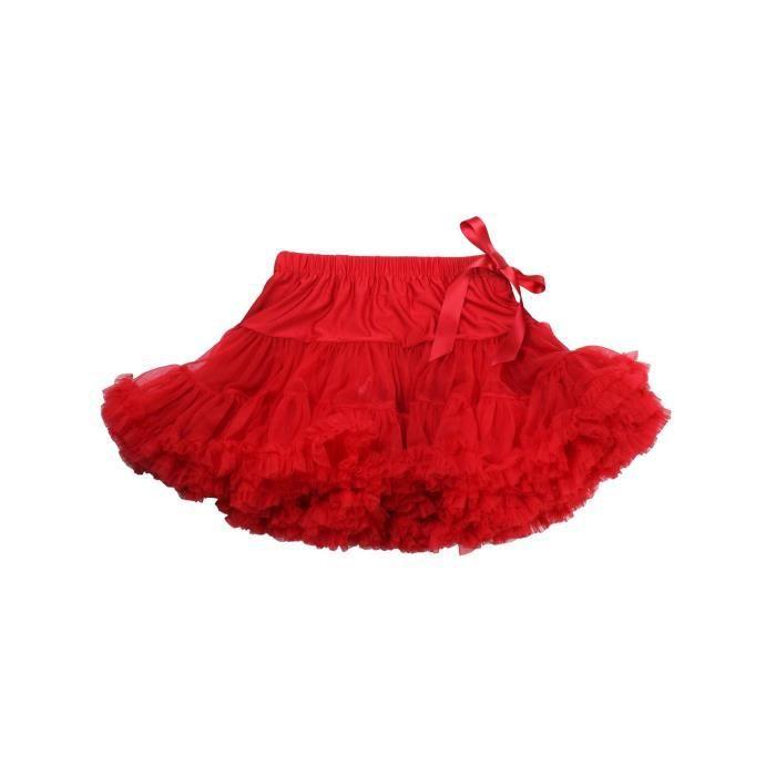 ee208ea8484 Fun Fun - Jupe à volants fille - rouge 16 ans Rouge - Achat   Vente ...