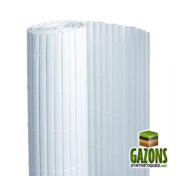 Canisse PVC Blanc Double Face 1.80m x 3m