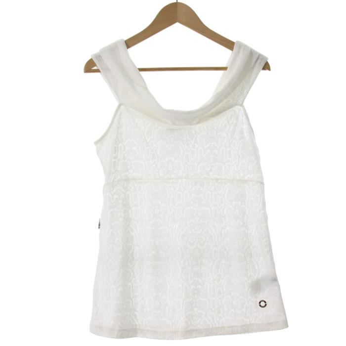 GUESS BY MARCIANO top femme 32W609 blanc - Achat   Vente tunique ... 02975835843