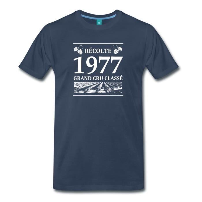 a7eb78da8afa8 Anniversaire Récolte 1977 Grand Cru Classé T-shirt Premium Homme de  Spreadshirt®