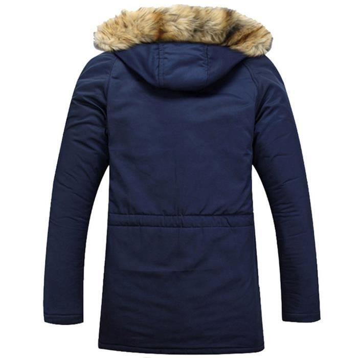 Minetom Élégant Manteaux Militaire Noir Hiver Foncé Imperméables D'automne Masculine bleu Homme Style rrS6q