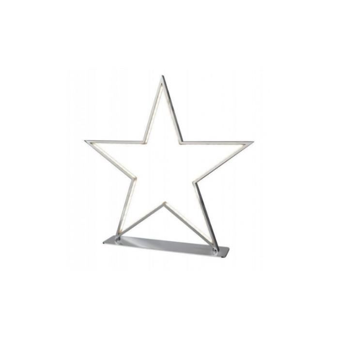 Lampe A Poser Etoile Chrome Led 50 Cm Lucy Achat Vente Lampe A