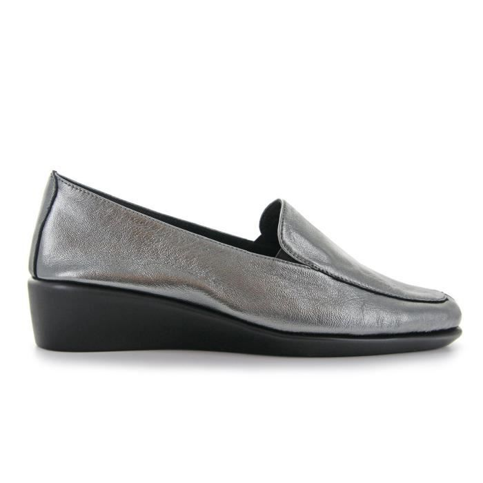 Barbara Femmes Slip en cuir Chaussures à talon compensé oisif (Voir plus de couleurs Designs Tailles) KNGZ9 Taille-39 1-2