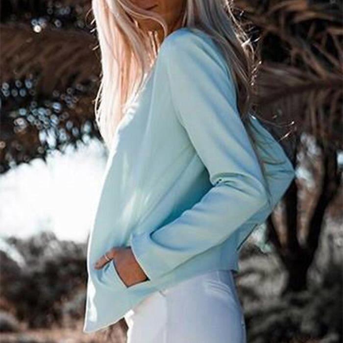 Femmes Top Manches Ouvert Vrac Cardigan En Avant Dames Longues Manteau Outwear Veste Wy6969604625 HPxaEqrHw