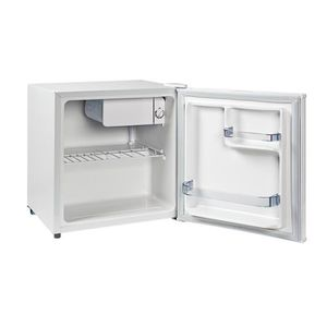 Réfrigérateur - Volume réfrigérateur : 46 L + freezer : 4 L - Classe énergétique : A++ - Niveau sonore : 39 dB - Consommation d'énergie : 80 kWh/an - 1 clayette fil - 2 balconnets - Porte réversible - Thermostat mécanique - Dégivrage manuel - Coloris Blan