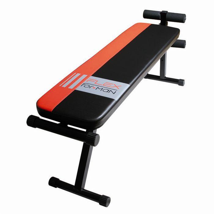Planche Abdo + Banc de musculation, noir et rouge.BANC DE MUSCULATION