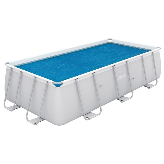 BESTWAY Bâche solaire pour Power Steel Frame Pools 549x274x122cm - 524x250cm
