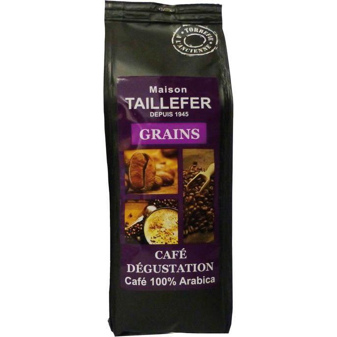 MAISON TAILLEFER Café Dégustation Grains Sachet de 250g