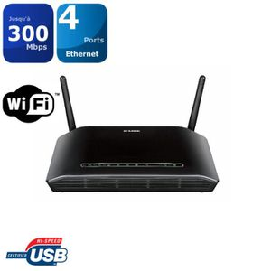 MODEM - ROUTEUR D-Link Routeur 300mbps + port USB DSL-2750B