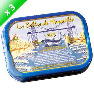 PRODUIT DE SARDINE LOT DE 3 BELLES DE MARSEILLE Sardine à l'Huile d'O