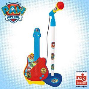 PAT PATROUILLE Guitare et microphone - 4 cordes - A piles