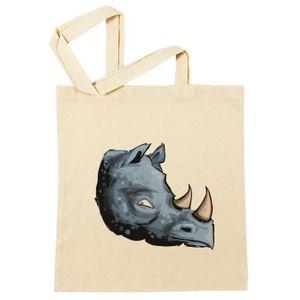 Sac à Provisions - Rhinocéros bleu Plage Coton Réutilisable Shopping ...