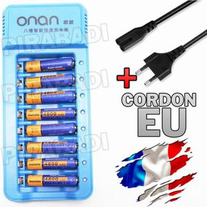 PILES 8 PILES ACCU AAA LR03 1.2V 4800mAh RECHARGEABLE +