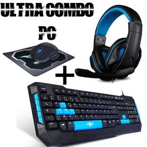 JEU PC Ultra Combo gamer PC All in One Clavier gamer + So