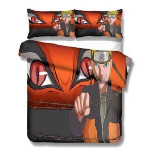 HOUSSE DE COUETTE ET TAIES Naruto Parure de Couette Imprimé Adulte-Enfant 1 H