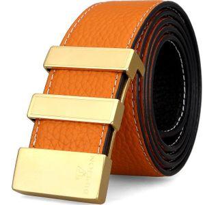 CEINTURE ET BOUCLE 100% cuir véritable occasionnels Ceintures réversi 86ac1e92476