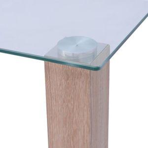 TABLE À MANGER SEULE vidaXL Table de salle à manger en verre 120x60x75