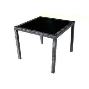 Table de jardin en plastique noir - Achat / Vente Table de jardin en ...