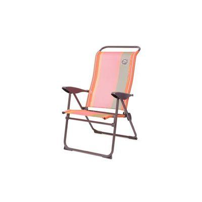 Fauteuil de camping 5 positions Structure Pliable Orange