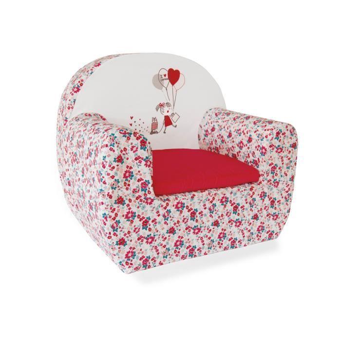 ABSORBA Canapé déhoussable London fille - 100% coton - 43,5x47x35 cm