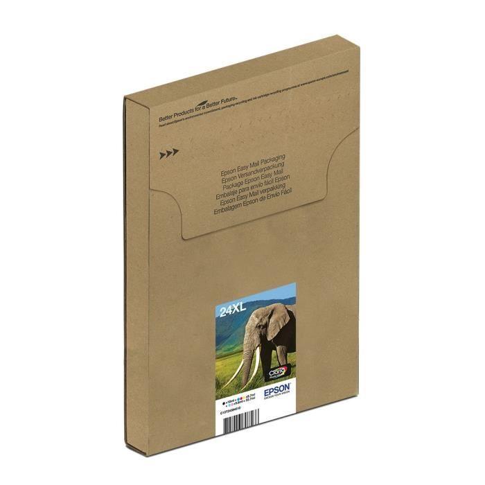 Cartouche Epson T2438 XL Eléphant EasyMail Multiplack 6 couleurs