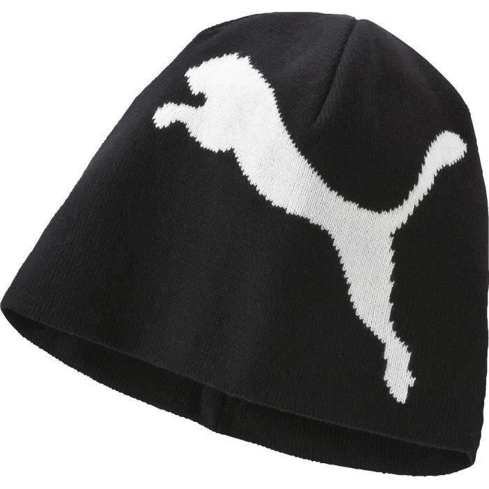PUMA Bonnet de Ski PCK6 Big Cat Beanie -Adulte - Noir