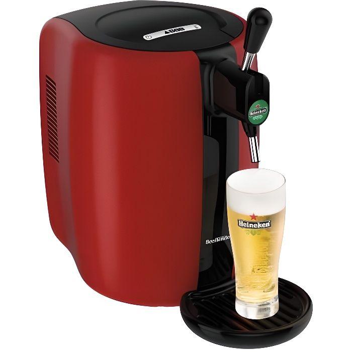 SEB VB310510 - Tireuse à bière Beertender - Compatible fûts 5 L - Noir / Rouge