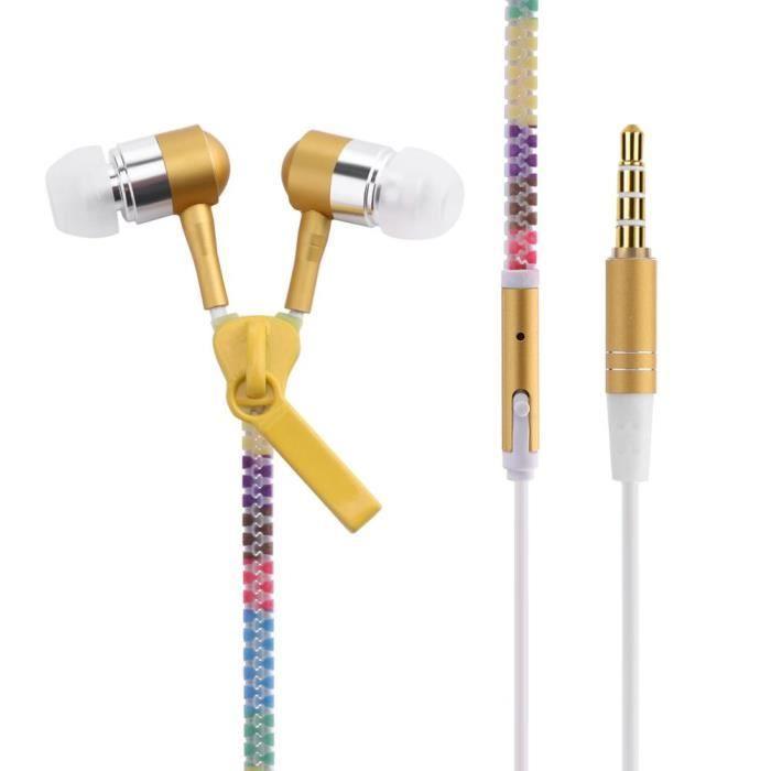 Écouteurs Intra-auriculaires Rougeoyants Avec Lumineux Et Métalliques (jaune)