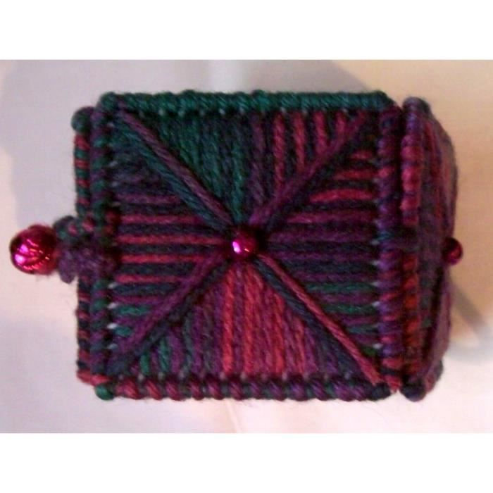 Womens Hot Pink And Turquoise Needlepoint Square Cuff Box Bracelet For , Teens QQXNH
