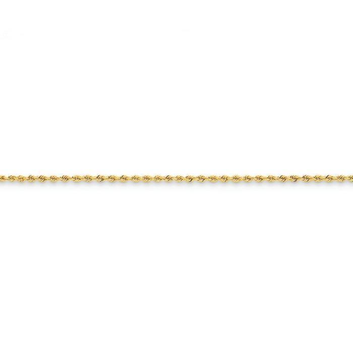 1,75 mm 14 carats Regular Collier de chaîne de corde à la main - 14 -